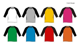 Raglan shirt blank Templates. Design raglan shirt blank Templates, vector images Stock Photography