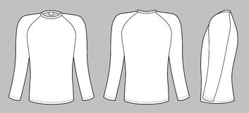 Raglan sleeve t-shirt Royalty Free Stock Image