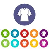 Raglan tshirt icons set flat vector Royalty Free Stock Photography