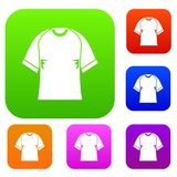 Raglan tshirt set color collection Royalty Free Stock Photography