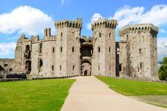 Raglanslott – Wales, Förenade kungariket Arkivbild