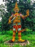 Ragman-Statue, der Charakter in der thailändischen Literatur, das schönste und das grausam stockbild