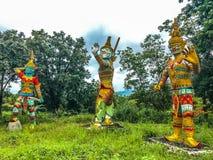 Ragman-Statue, der Charakter in der thailändischen Literatur, das schönste und das grausam stockbilder