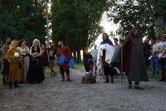 Ragnarok - irmãos de Viking - os 28-30 de setembro de 2018 - ` Adda de Casirate d - BG - Itália fotografia de stock