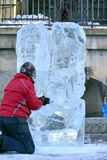 Ragnhild Brodow  ​​ice sculptures Stock Image