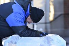 Ragnhild Brodow lodowe rzeźby Fotografia Stock