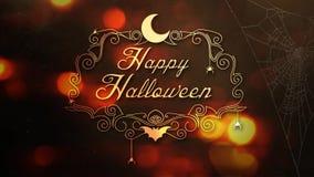 Ragni arancio felici di Halloween e web 4K stock footage