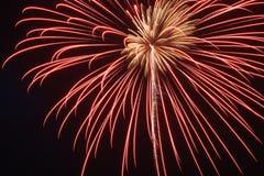 Ragno dei fuochi d'artificio Immagini Stock