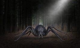 Ragno diabolico surreale del mostro di Halloween immagine stock