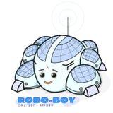 Ragno sveglio del robot Stampa del ragazzo per progettazione della maglietta di tipografia del jersey dei bambini Immagine Stock Libera da Diritti