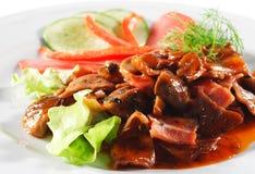 ragoût chaud de viande de paraboloïdes de boeuf Photographie stock libre de droits