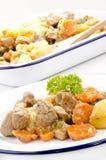 Ragoût de porc avec des raccords en caoutchouc Image stock