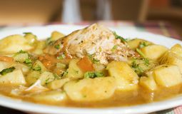 Ragoût de poulet avec des pommes de terre Photographie stock libre de droits
