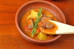 Ragoût de viande avec des pommes de terre Images stock