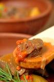 Ragoût de viande avec des pommes de terre Images libres de droits