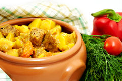 Ragoût de viande avec la pomme de terre Photo stock
