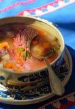 Ragoût traditionnel de viande avec des légumes Images stock