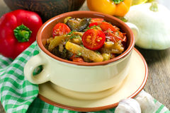 Ragoût végétal fait maison Photo stock