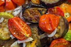 Ragoût dans une casserole de légumes Image stock