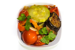 Ragoût dans une casserole de légumes Photo stock