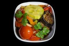 Ragoût dans une casserole de légumes Images libres de droits