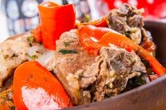 Ragoût de boeuf avec des légumes Photographie stock