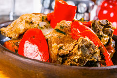 Ragoût de boeuf avec des légumes Photos stock