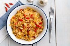 Ragoût de chou, kapuska turc de Zeytinyagli de nourriture Photo stock