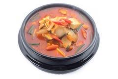 Ragoût de Kimchi, chigae de kimchi, cuisine coréenne, soupe à kimchi photographie stock