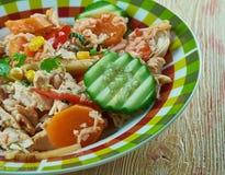 Ragoût de poulet mexicain estival images libres de droits