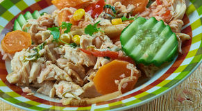 Ragoût de poulet mexicain estival photos stock