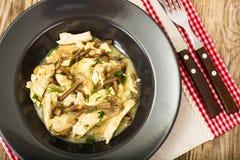 Ragoût de viande avec les champignons marinés photos libres de droits