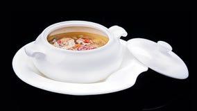 Ragoût de viande, cuisine traditionnelle chinoise d'isolement sur le backgrou noir Photo stock