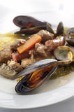 Ragoût de viande et de poissons Photo stock