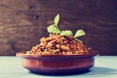 Ragoût espagnol de lentille, filtré Image stock