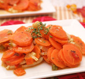 Ragoût frais de carottes Photographie stock libre de droits
