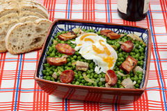 Ragoût traditionnel portugais de nourriture-pois Photo stock