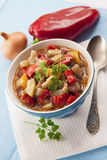 Ragoût végétal coloré dans une cuvette Photo libre de droits
