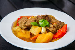 Ragout με το κρέας και vegatables Στοκ Εικόνα