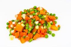 Ragout του σέλινου, των καρότων, των μπιζελιών, του γλυκού πιπεριού και της ντομάτας Στοκ Εικόνα