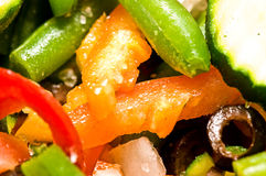 Ragout from frozen vegetables Royalty Free Stock Photo