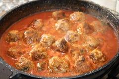 Ragout of meatballs Stock Photos