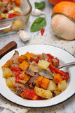 Ragout with pumpkin Royalty Free Stock Photo