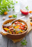 Ragout from turkey and tomato Royalty Free Stock Photography