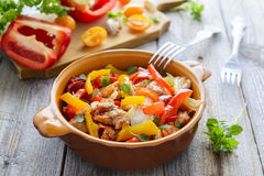 Ragout from turkey and vegetables Royalty Free Stock Photo