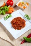 Ragout und Gemüse in einem Teller Lizenzfreies Stockbild