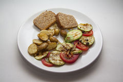 Ragout of zucchini Royalty Free Stock Image