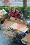 Ragpicker person in Hong Kong Royalty Free Stock Photo