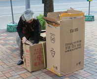 Ragpicker person in Hong Kong Stock Photography