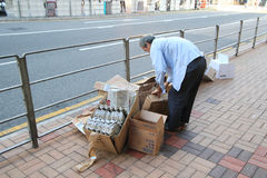 Ragpicker person in Hong Kong Royalty Free Stock Photography